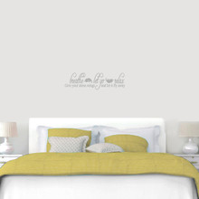 "Breathe Let Go Relax Wall Decal 36"" wide x 10"" tall Sample Image"