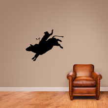 "Bull Rider Wall Decal 36"" wide x 30"" tall Sample Image"