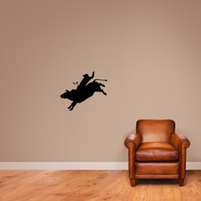 "Bull Rider Wall Decal 24"" wide x 20"" tall Sample Image"