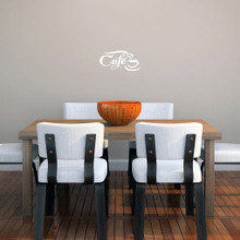 """Cafe Wall Decals 10"""" wide x 5"""" tall Sample Image"""