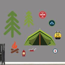 Camping Set Printed Wall Decals Large Sample Image