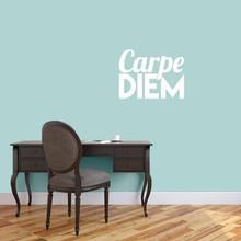 "Carpe Diem Wall Decal 24"" wide x 18"" tall Sample Image"