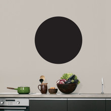 """Chalkboard Circle Wall Decals 18"""" wide x 18"""" tall Sample Image"""