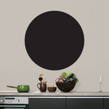 """Chalkboard Circle Wall Decals 23"""" wide x 23"""" tall Sample Image"""