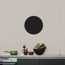 """Chalkboard Circle Wall Decals 12"""" wide x 12"""" tall Sample Image"""