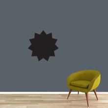 "Chalkboard Starburst Wall Decals 18"" wide x 18"" tall Sample Image"