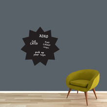 """Chalkboard Starburst Wall Decals 23"""" wide x 23"""" tall Sample Image (writing not included)"""