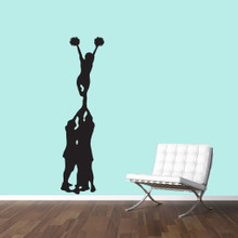 "Cheerleader Mount Wall Decals 16"" wide x 60"" tall Sample Image"