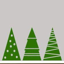Christmas Tree Set Wall Decals Extra Large Sample Image