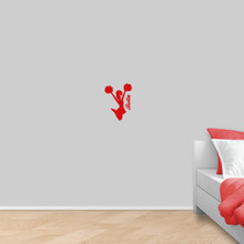"""Custom Cheerleader Wall Decal 9"""" wide x 12"""" tall Sample Image"""
