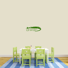 "Custom Crocodile Name Wall Decal 24"" wide x 8"" tall Sample Image"
