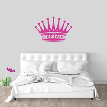 "Custom Crown Name Wall Decal 36"" wide x 24"" tall Sample Image"