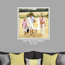 Custom Family Monogram Photo Wall Decals and Stickers