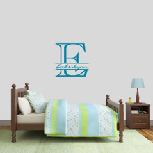 "Custom Monogram With Name Wall Decal 22"" wide x 22"" tall Sample Image"