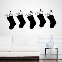 Custom Name Stocking Wall Decals and Wall Stickers
