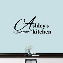 "Custom Don't Touch Kitchen Wall Decal 48"" wide x 22"" tall Sample Image"