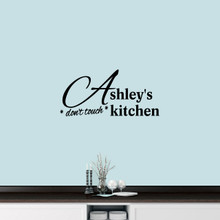 "Custom Don't Touch Kitchen Wall Decal 36"" wide x 17"" tall Sample Image"