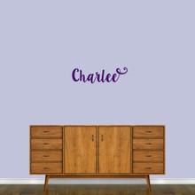 "Cute Cursive Custom Name Wall Decal 24"" wide x 7"" tall Sample Image"