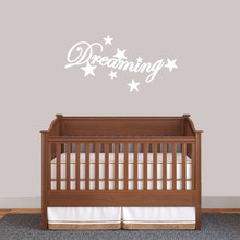 """Dreaming Wall Decal 36"""" wide x 18"""" tall Sample Image"""