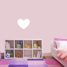 """Dry Erase Heart Wall Decals 12"""" wide x 10"""" tall Sample Image"""