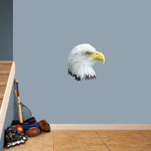"Eagle Head Mascot Printed Wall Decals 18"" wide x 18"" tall Sample Image"