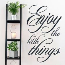 "Enjoy The Little Things Wall Decals 30"" wide x 50"" tall Sample Image"