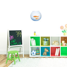 """Fish Bowl Printed Wall Decals 10"""" wide x 9"""" tall Sample Image"""