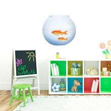 """Fish Bowl Printed Wall Decals 18"""" wide x 17"""" tall Sample Image"""