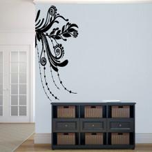 "Corner Flourish Wall Decals 22.5"" wide x 50"" tall Sample Image"