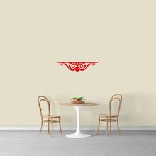 "Fancy Shelf Flourish Wall Decal 24"" wide x 6"" tall Sample Image"