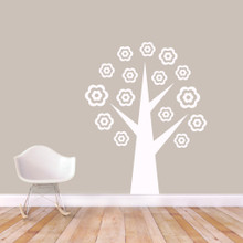 """Flower Tree Wall Decals 48"""" wide x 60"""" tall Sample Image"""