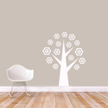 """Flower Tree Wall Decals 38"""" wide x 48"""" tall Sample Image"""