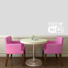 "Free Wifi Window or Wall Decal 18"" wide x 12"" tall Sample Image"