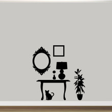 Furniture Silhouettes Wall Decals Wall Stickers Medium Sample Image