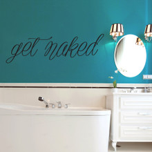 """Get Naked Wall Decals 60"""" wide x 18"""" tall Sample Image"""