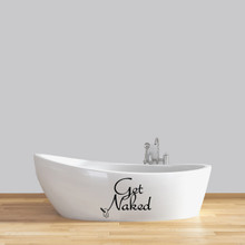 """Get Naked Wall Decals 18"""" wide x 14"""" tall Sample Image"""
