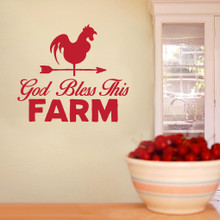 """God Bless This Farm Wall Decals 48"""" wide x 42"""" tall Sample Image"""
