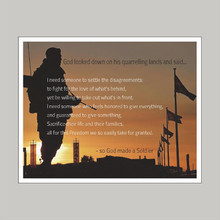 God Made A Soldier - Art Print Wall Art and Wall Decal Prints