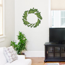 "Green Wreath Printed Wall Decals Wall Stickers 18"" wide x 18"" tall Sample Image"