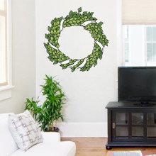 "Green Wreath Printed Wall Decals Wall Stickers 24"" wide x 24"" tall Sample Image"