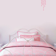 """Hanging Hearts Wall Decals 7"""" wide x 16"""" tall Sample Image"""
