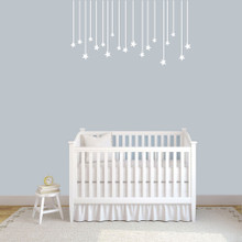 "Hanging Stars Wall Decals 48"" wide x 26"" tall Sample Image"