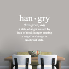 "Hangry Wall Decals 36"" wide x 27"" tall Sample Image"