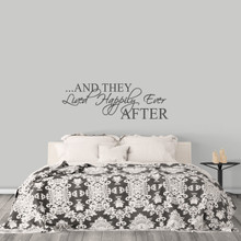 """Happily Ever After Wall Decal 48"""" wide x 16"""" tall Sample Image"""