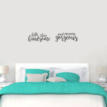 Handsome Gorgeous Wall Decals Medium Sample Image
