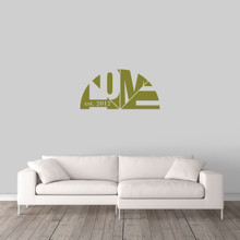 "Custom Home With Established Year Wall Decal 36"" wide x 18"" tall Sample Image"