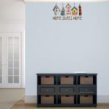 "Home Sweet Home Bird Houses Printed 24"" wide x 14"" tall Sample Image"