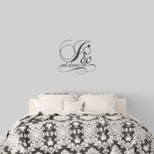 """I Do And Always Will Wall Decal 24"""" wide x 22"""" tall Sample Image"""
