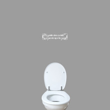 """If You Sprinkle When You Tinkle Wall Decal 18"""" wide x 5"""" tall Sample Image"""