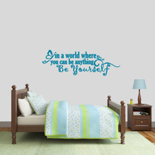 """Be Yourself Wall Decal 48"""" wide x 16"""" tall Sample Image"""